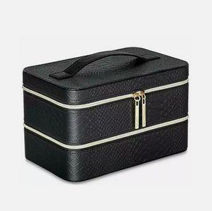 Lancome Two Level Organizer Train Case Makeup Box